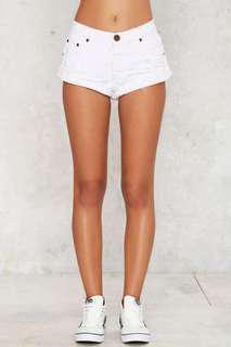🚚 One Teaspoon bandits shorts white