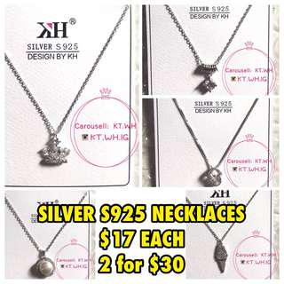 ✨Silver S925 Necklaces✨