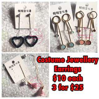 Costume Jewellery - Earrings