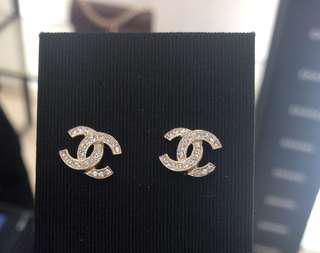 Chanel 耳環 巴黎總店購入 全套有單 A88429Y