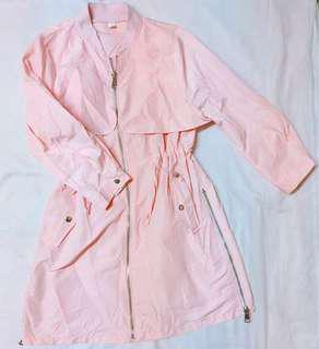 Peachy Pink Parka Jacket
