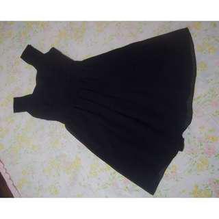 Black Cut-out Back Dress