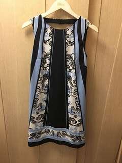 Sinequanone sky blue print knee dress 🌌