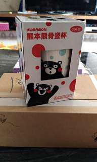 🚚 熊本熊骨瓷杯(全新未用附盒)