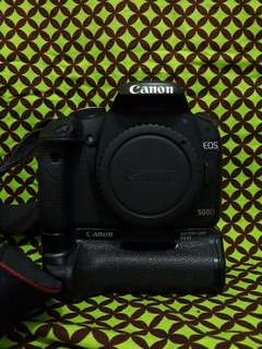 Canon 500D Body Only + Baterry Grip