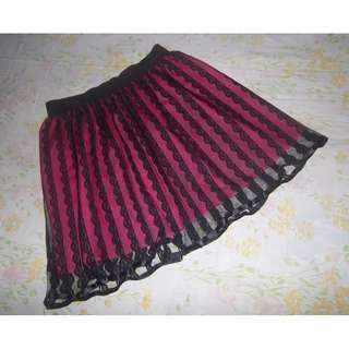 Fuschia Pink Laced Skirt