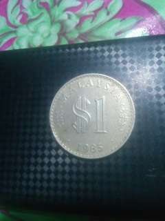 Coin $1 parlimen tahun 1985, semi keydate
