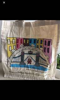 Portobello Notting Hill Tote Bag, bought in London