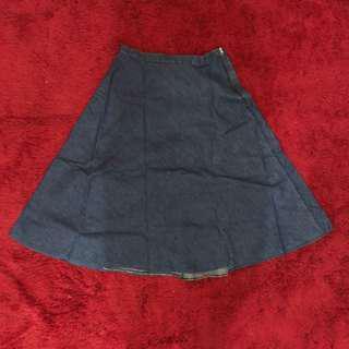 Zara Jeans Long Skirt