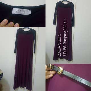 REPRICE ZALIA Basic Swing Maxi Dress With Belt