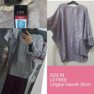 Blouse Kaftan Silver Size M