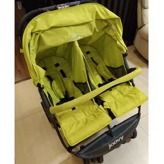 Joovy twin stroller X2 colour greenie (include delivery)
