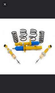 Brand New In Box Bilstein B12 For Nissan Qashqai 1.2L J11 with optional mounting plates