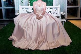 Gown for rent!! ✨ Silk nude ball gown!!