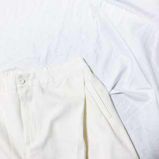 🚚 OB Design 簡單百搭白褲