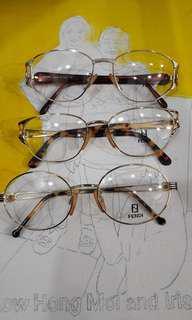 Fendi  vintage frames and sunglasses