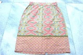 Pink Batik Skirt