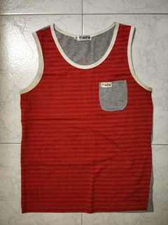 Red stripped Singlet