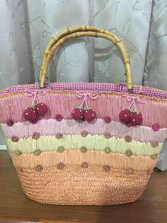 🚚 日本草莓竹節提袋
