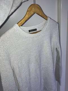 Grey jumper knit