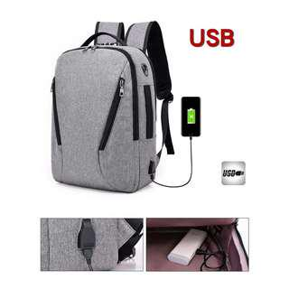 USB Charging Anti-Theft Backpack With Lock