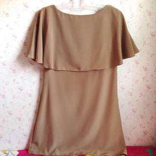 dress brown atas lutut