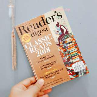 ASIA READER'S DIGEST JANUARY 2018 EDITION