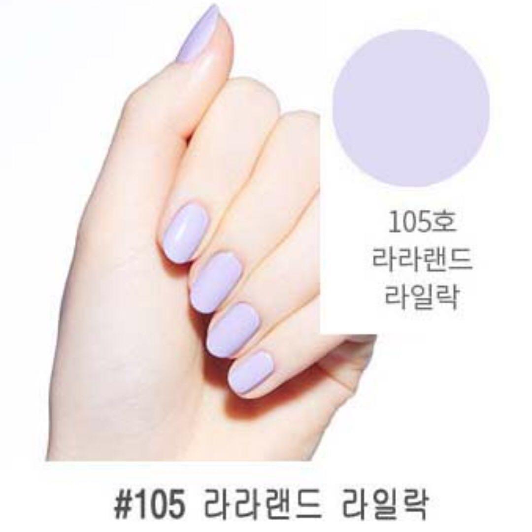 韓國購入 Etude house play系列 指甲油 2018新色-#105粉紫(熱銷色)