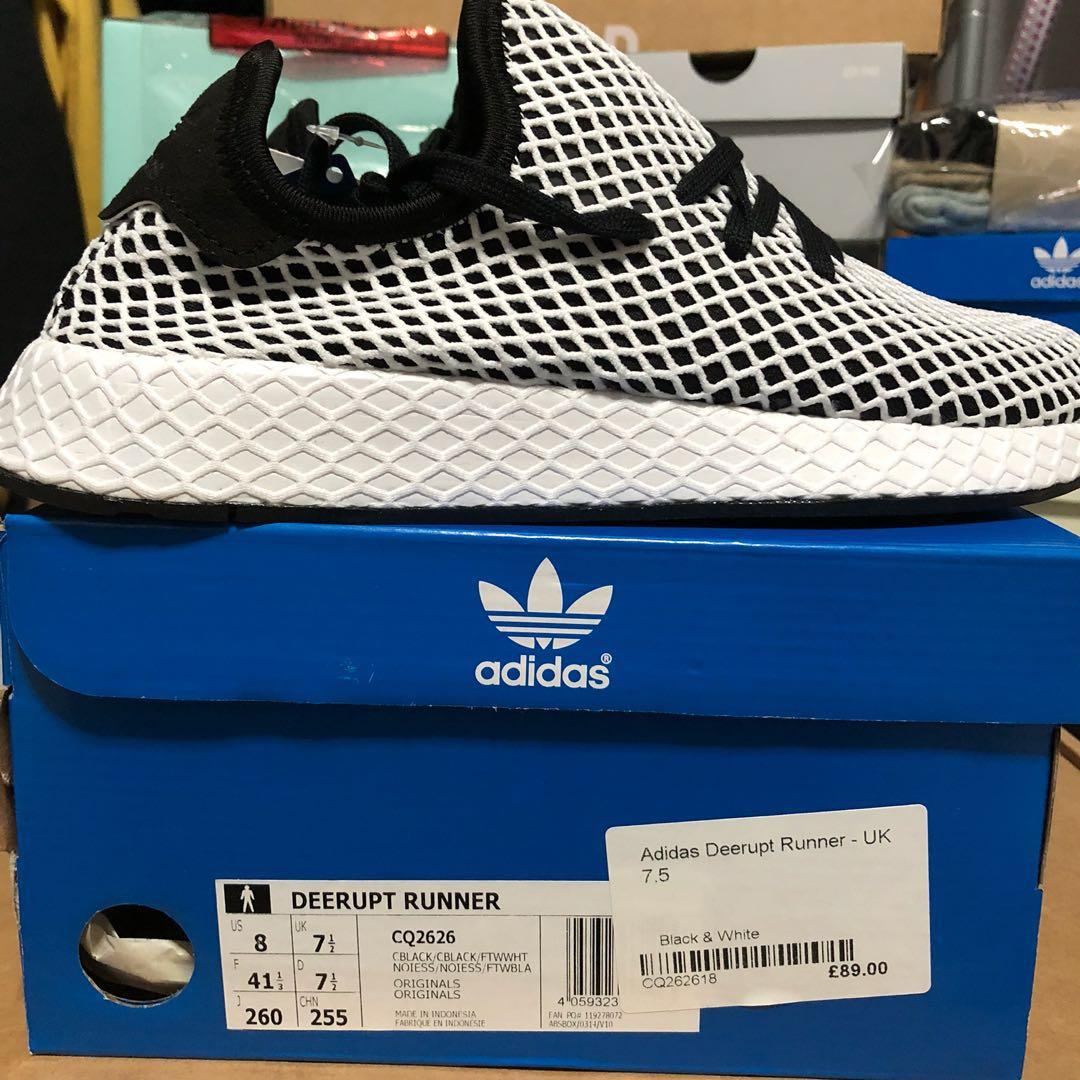 070c0ae9fa008 Adidas Deerupt Runner Black   White ( US8