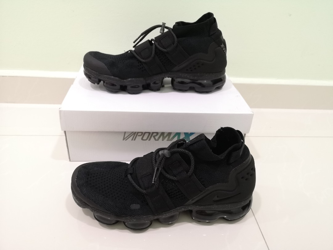 online retailer ba6d3 9b2a7 AIR VAPORMAX FK UTILITY TRIPLE BLACK Size US 10, Mens Fashio