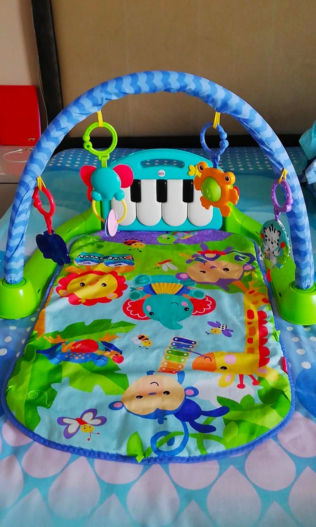 Almost Bn Fisher Price Kick Play Piano Gym Bluegreen Babies