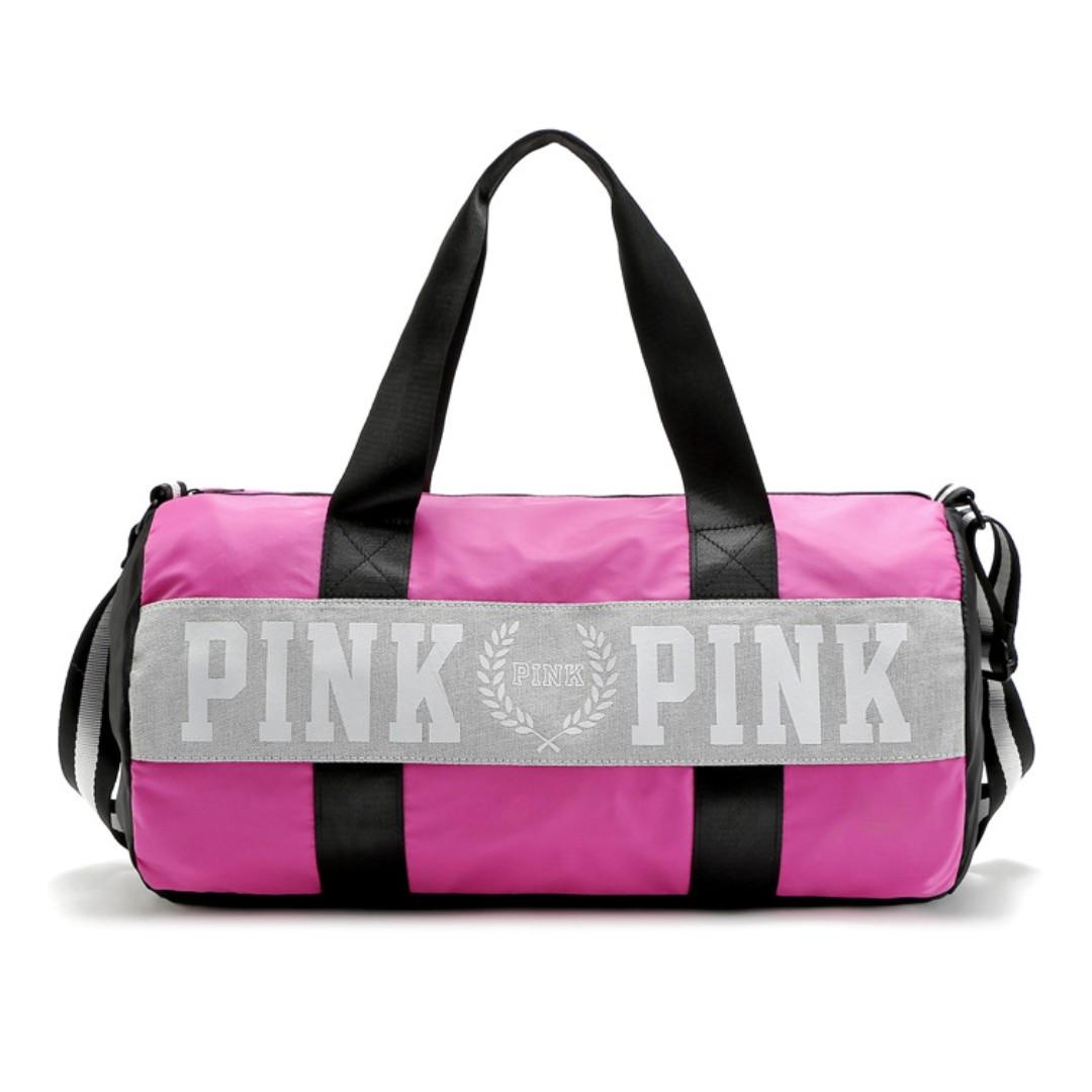 a2b2c02e3a Instock! VS Victoria s Secret PINK Duffel Gym Travel Bag (Pink ...
