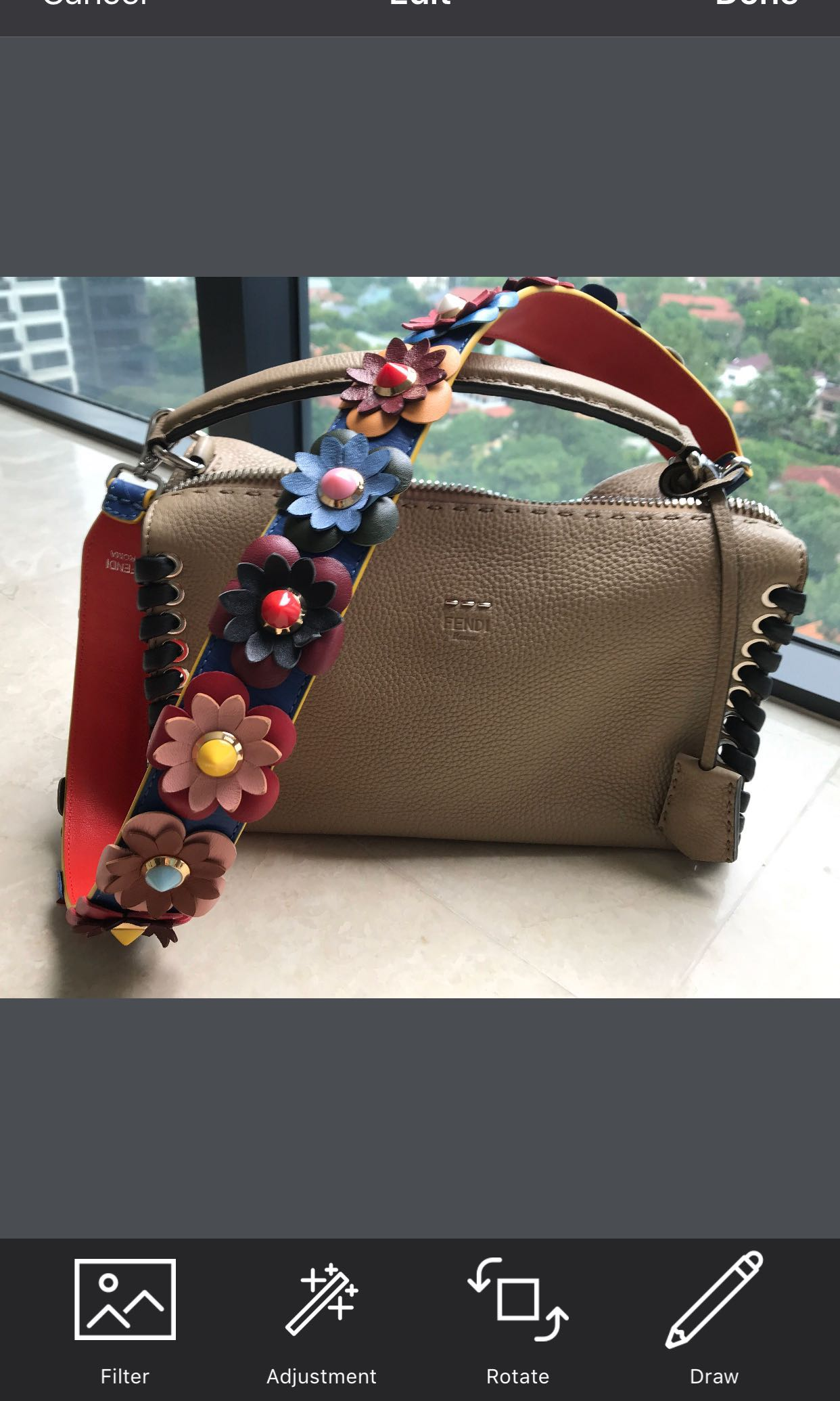 6845cd3625 Authentic Ltd Edition Fendi Lei Bag with 2 straps