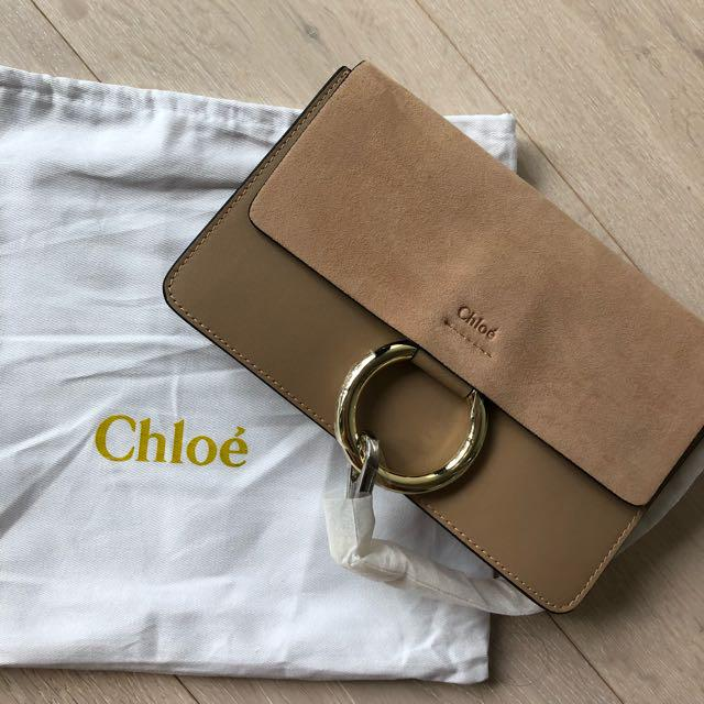 Beige Leather Crossbody