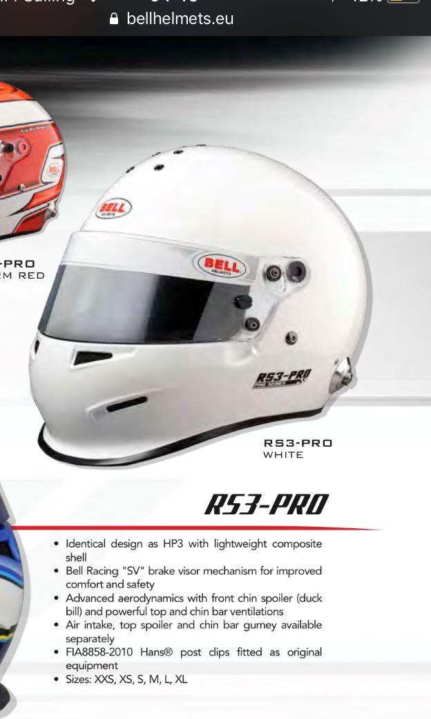 58268135 Bell rs3 helmet, Aksesori Auto di Carousell