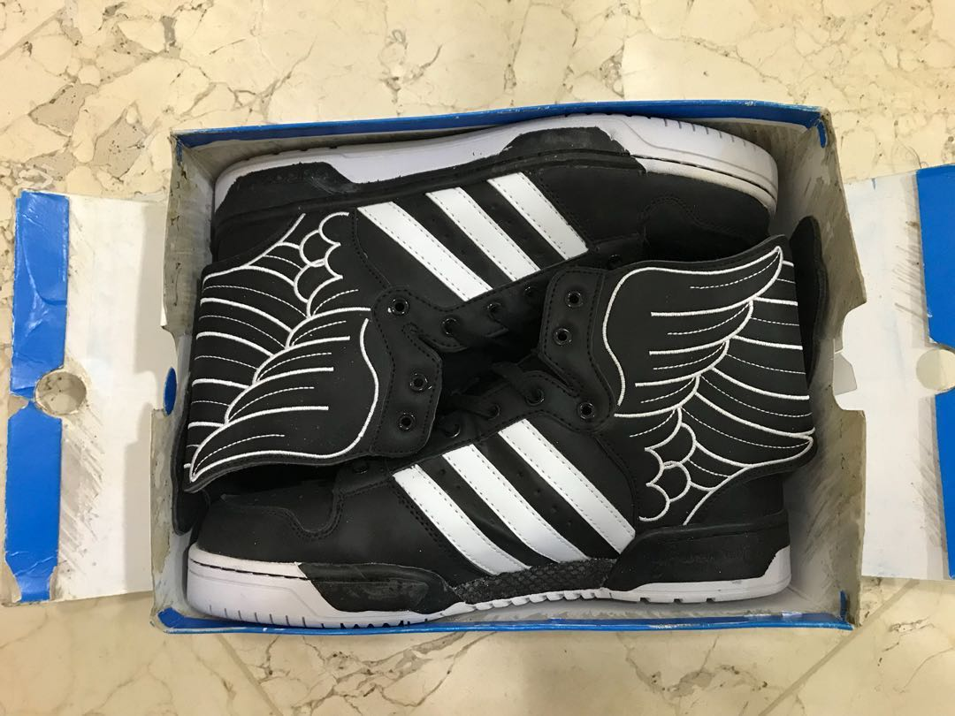 be5f4a51bc7e BNIB (deadstock new baru) Adidas Jeremy Scott Wings 2 Black KW(Tidak ...