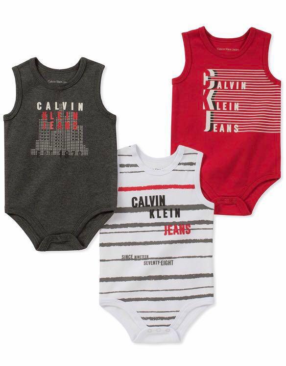4f2712ef7 Calvin Klein Baby Romper