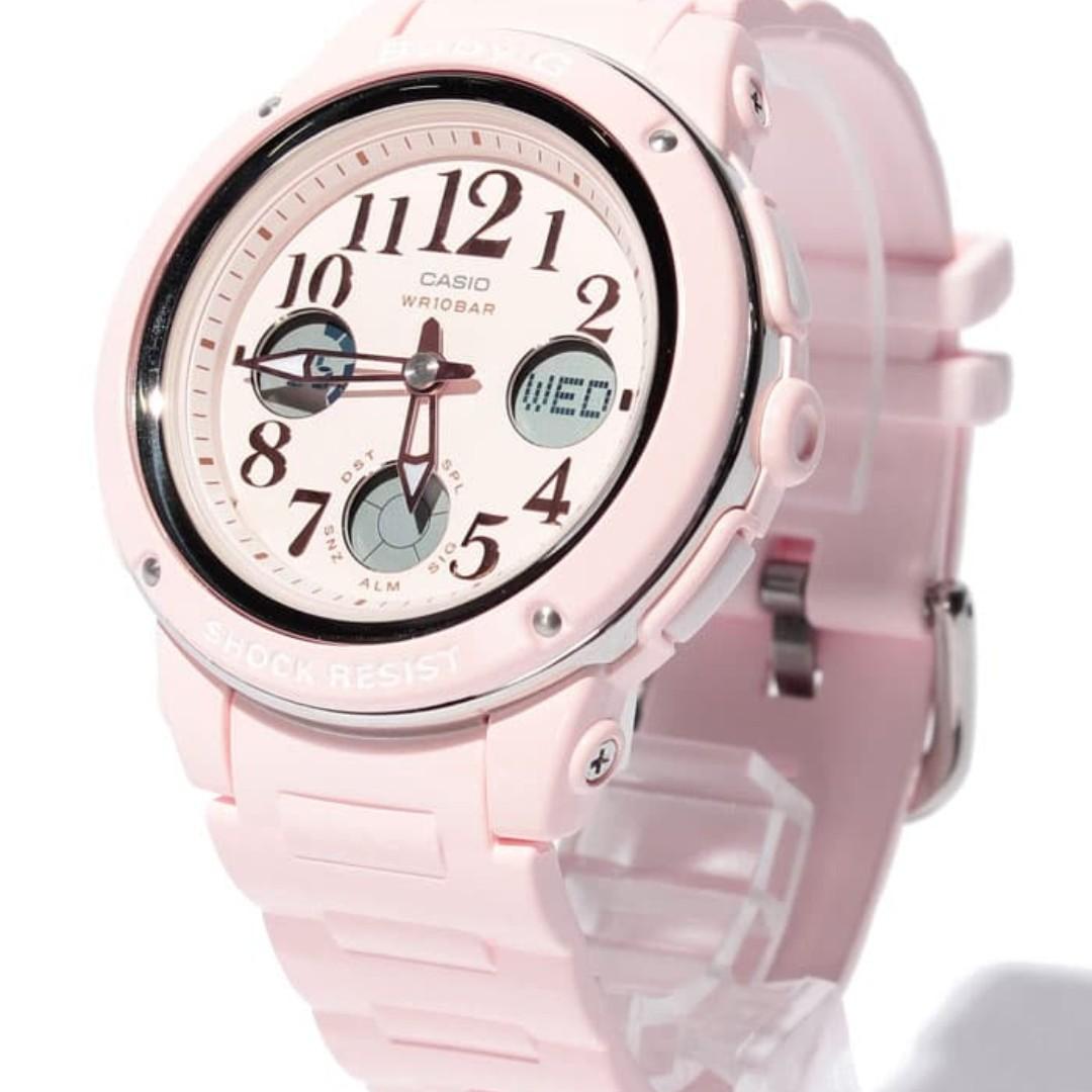 b1e165d7a Casio Women's Baby G BGA150EF-4B Pink Rubber Quartz Sport Watch ...