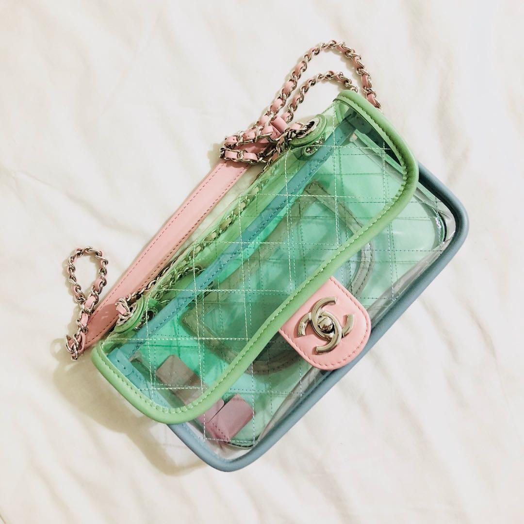 414d9d31c3ea Chanel PVC Flap Bag, Luxury, Bags & Wallets, Handbags on Carousell
