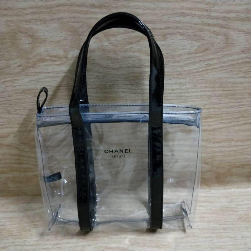 b560fa43778bd Chanel Transparent PVC Zip Tote Bag