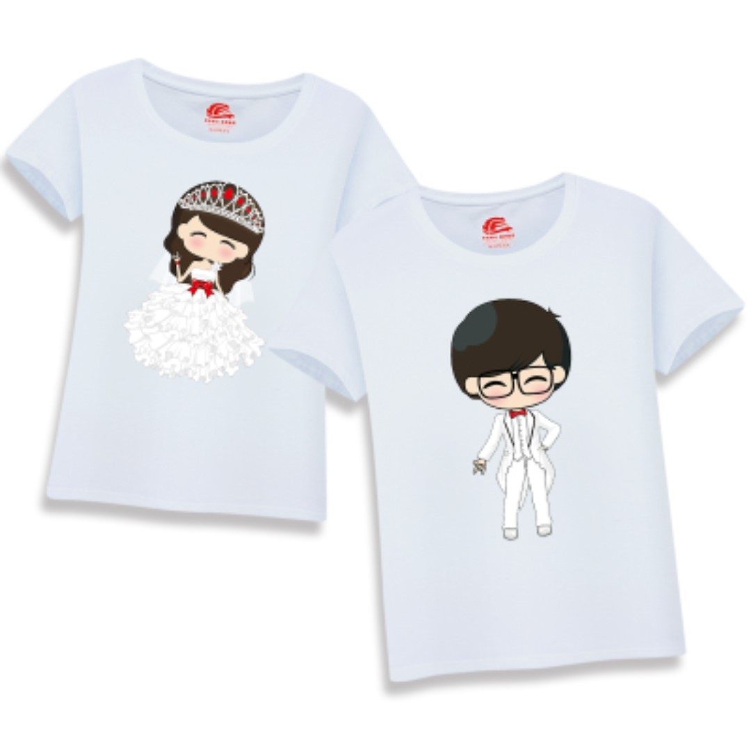 c9303ab6cf Couple Matching Wear Printed Tees / T-Shirts / Tops / Clothes ...