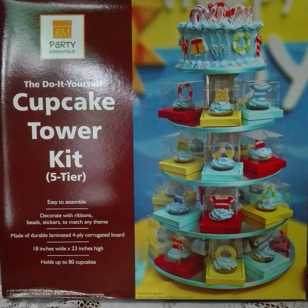 Diy Cupcake Tower Kit 5tier On Carousell