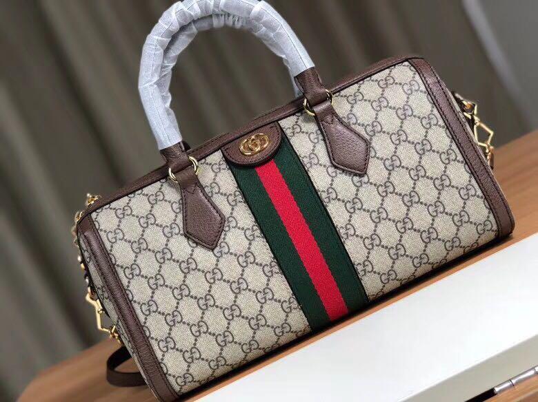 42adabf7e3 Gucci Ophidia GG Medium Top Handle Bag, Women's Fashion, Bags ...