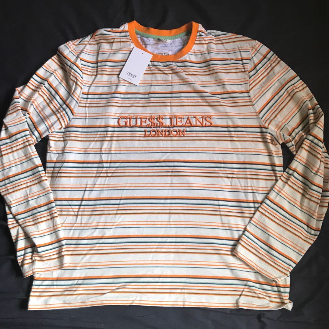 43034764 Guess X Asap rocky long sleeve XL, Men's Fashion, Clothes, Tops on ...