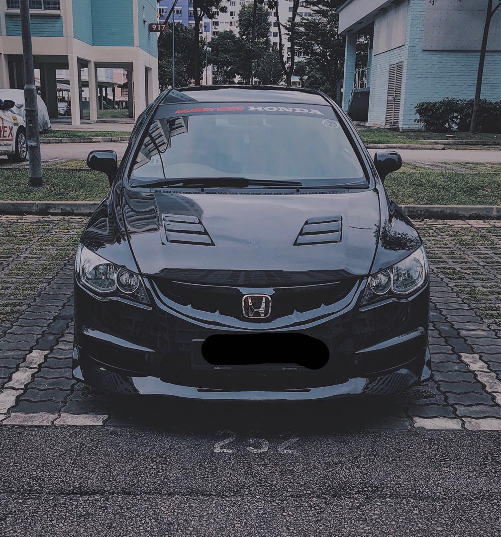 Honda civic FD Mugen CF hood