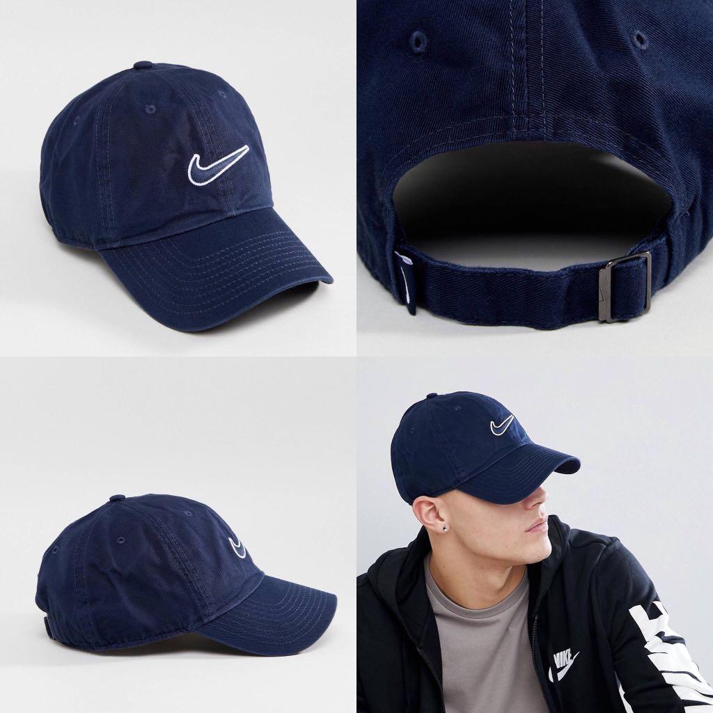 "INSTOCKS Nike Navy Heritage ""Swoosh"" Baseball Cap 15576b114b5"