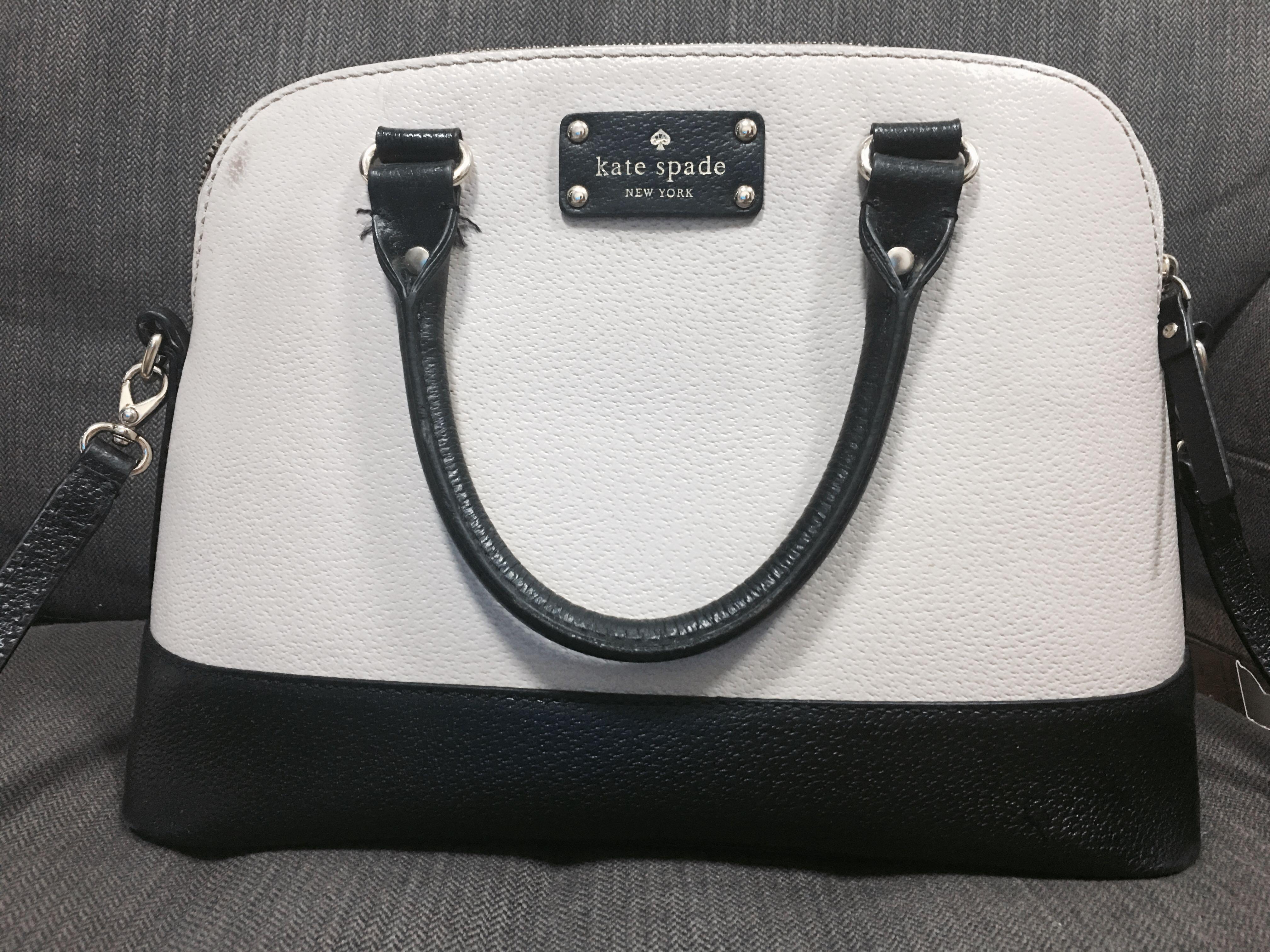 Kate Spade Black White Sling Bag Women S Fashion