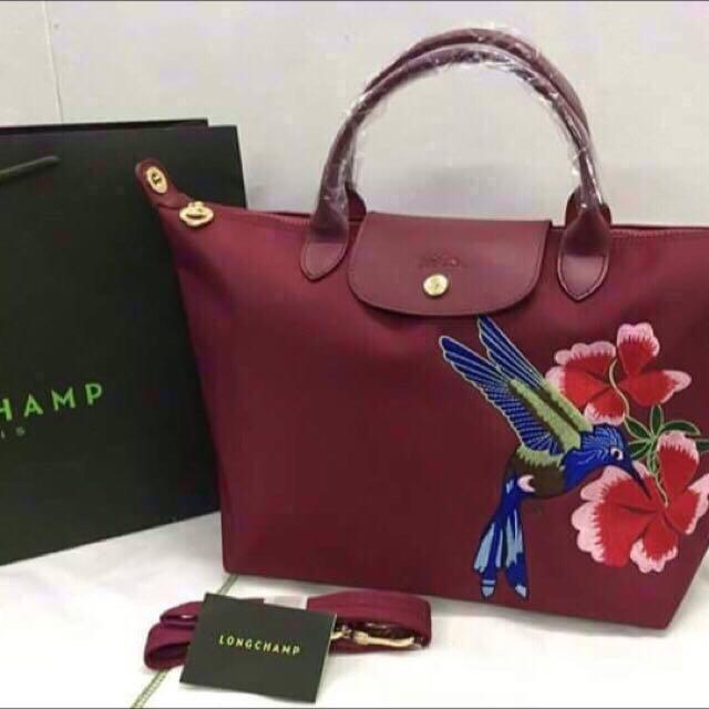 c88f0c95dc4 Last piece!! Longchamp neo embroidered medium, Luxury, Bags ...