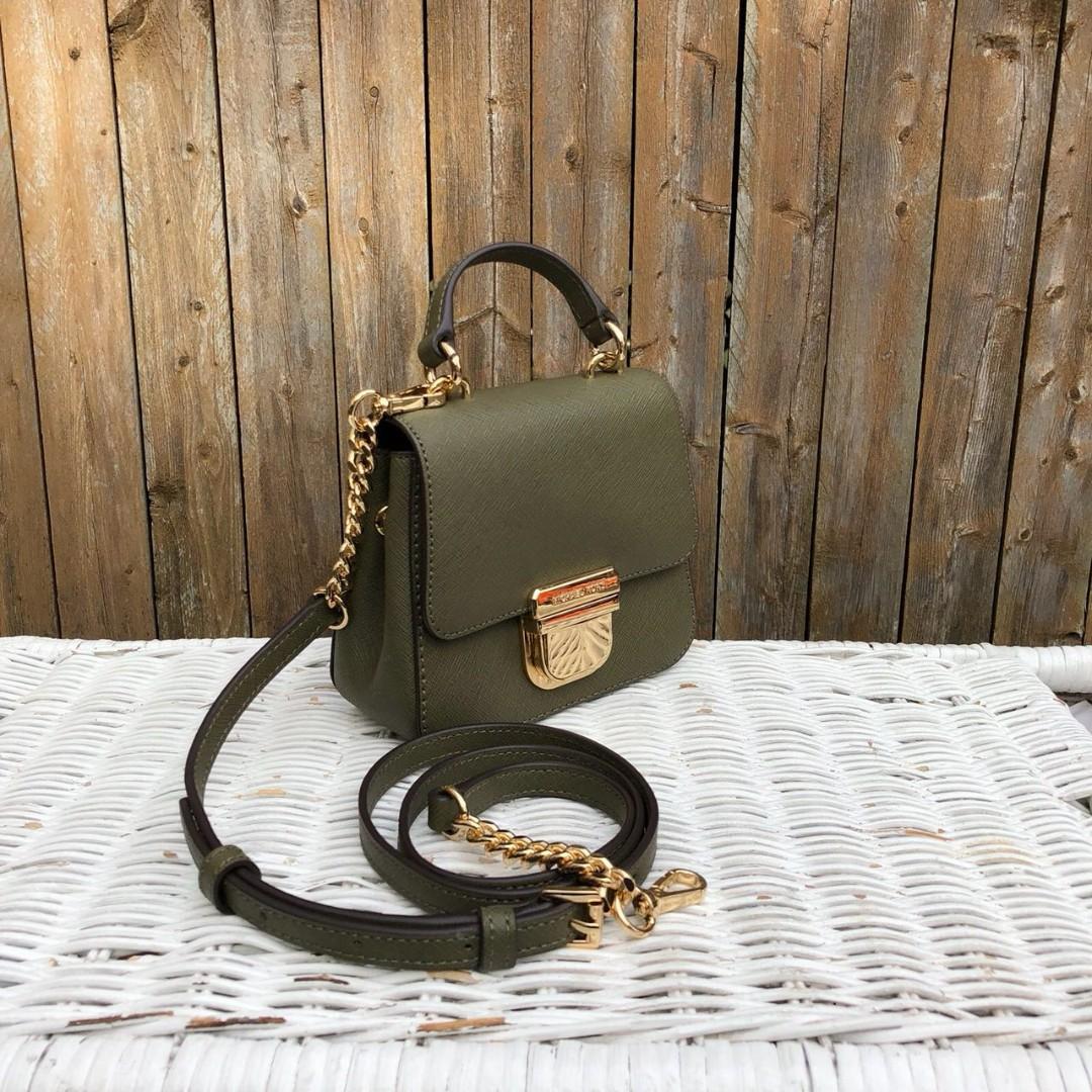 327c947fa8c0c1 Michael Kors Bridgette Mini Top Handle Crossbody in Olive, Luxury, Bags &  Wallets, Handbags on Carousell