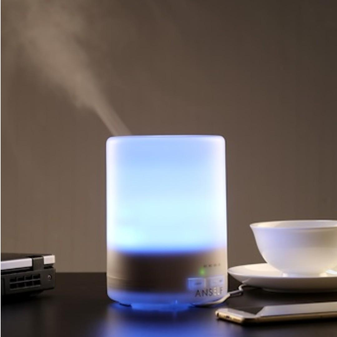 MUJI 300ML PROMOTION! 7 LED LIGHTS. Auto Off Feature. Timer Setting. Home Air Aroma Diffuser, Humidifier, Purifier. Free 3x Essential Oil Special Promo + Free Courier Delivery Service.